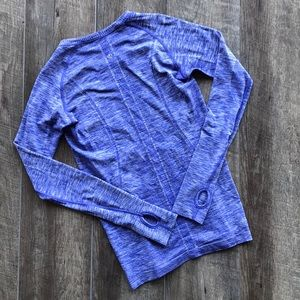 lululemon Heathered Blue Swiftly Tech Long Sleeve